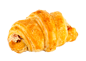 Croissant cheese and bacon filled